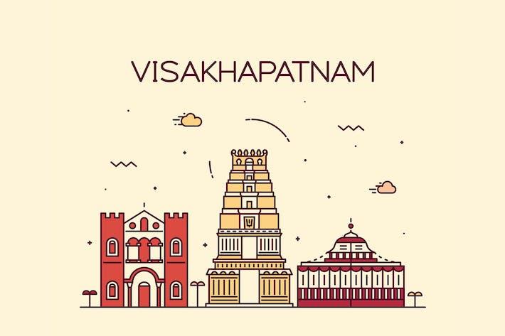 Cover Image For Visakhapatnam skyline, India