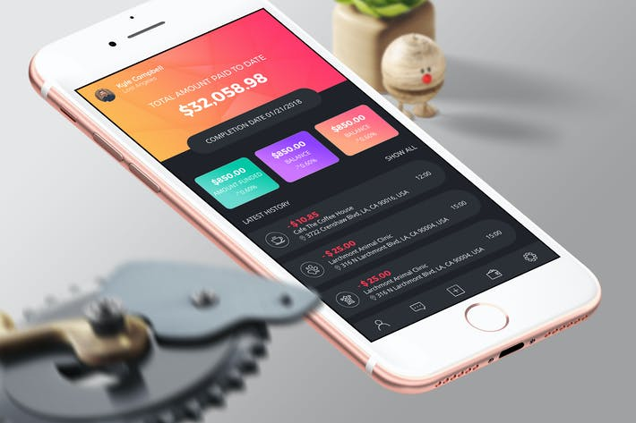 Thumbnail for Finance 6 Mobile Ui - H