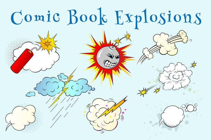 Cover Image For Comic Book Explosions