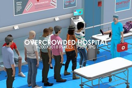 Überfülltes medizinisches Zentrum