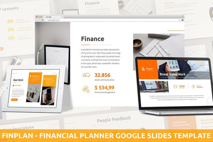 Finplan - Financial Planner Google Slides Template
