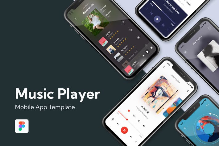 Thumbnail for Music Player App - Mobile Screen Template