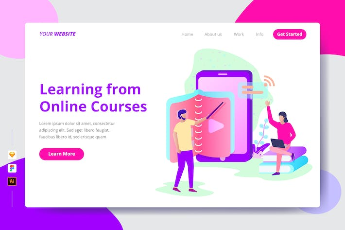 Thumbnail for Learning from Online Courses - Landing Page