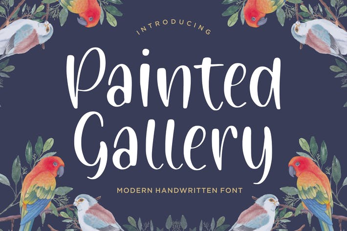 Painted Gallery Handwriting Font YH