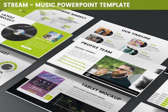 Thumbnail for Stream - Music Powerpoint Template