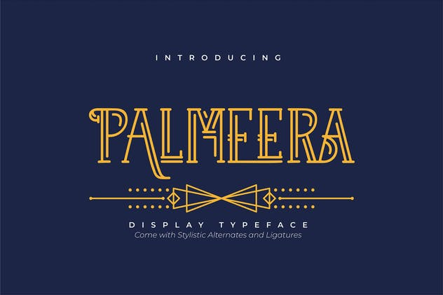 Palmeera | Display Typeface - product preview 5