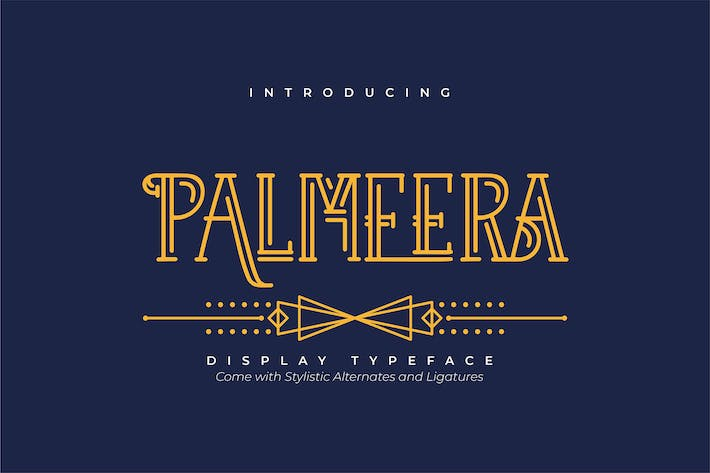 Thumbnail for Palmeera | Display Typeface