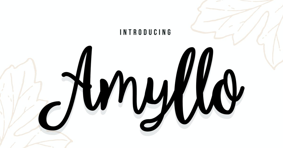 Download Amyllo - A Bold Script Typeface by IanMikraz