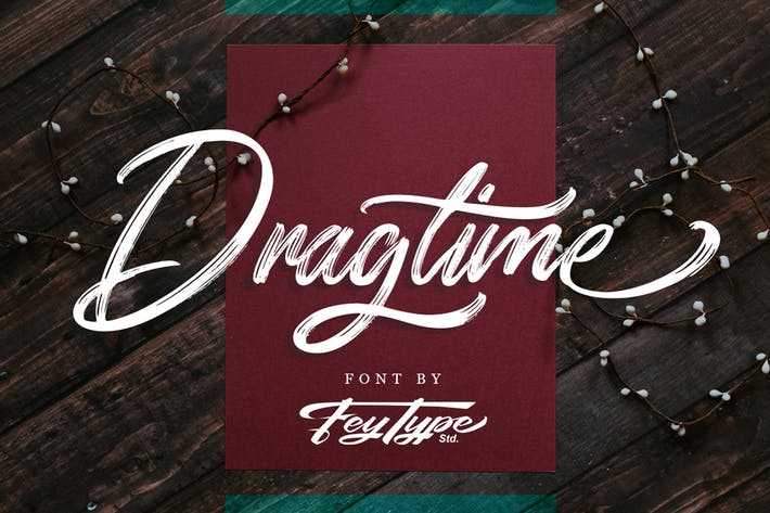 Cover Image For Dragtime - Handwritting Script Font