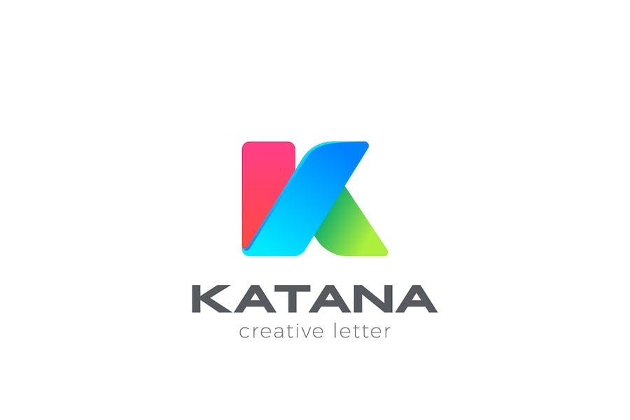 Logo Letter K Colorful Design