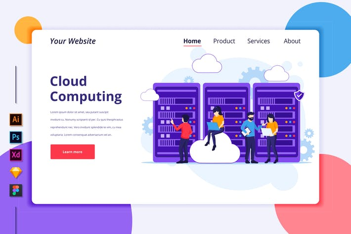 Cloud Computing Illustration - Agnytemp