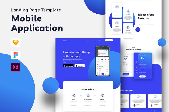 Thumbnail for Mobile Application Landing Page Template