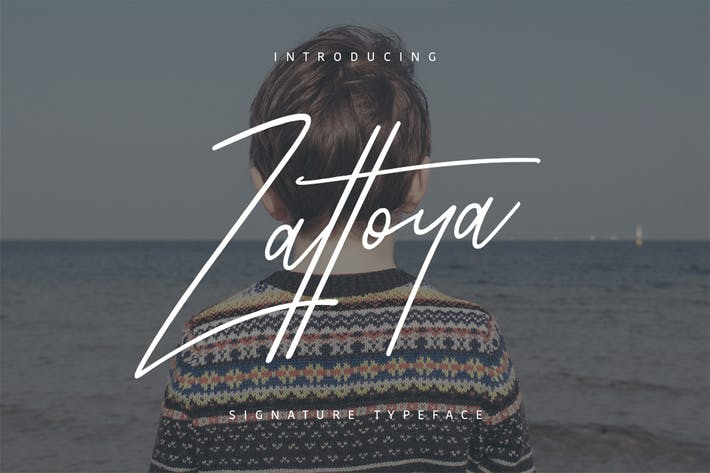 Thumbnail for Zattoya Signature Typeface