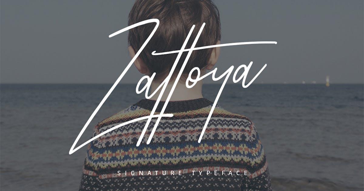Download Zattoya Signature Typeface by maulanacreative