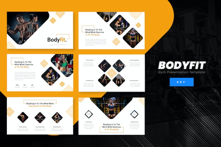 Cover Image For Bodyfit - Fitness Keynote Presentation Template