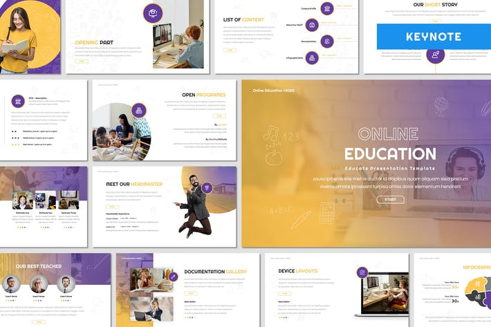 Thumbnail for Online Education - Keynote Template