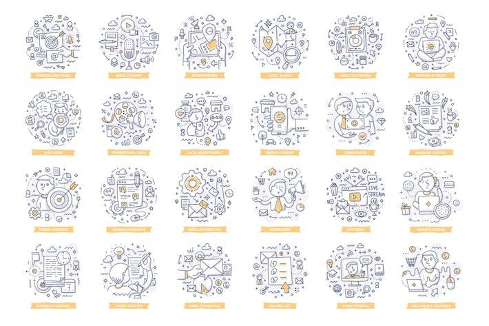 24 Marketing Doodle Konzepte