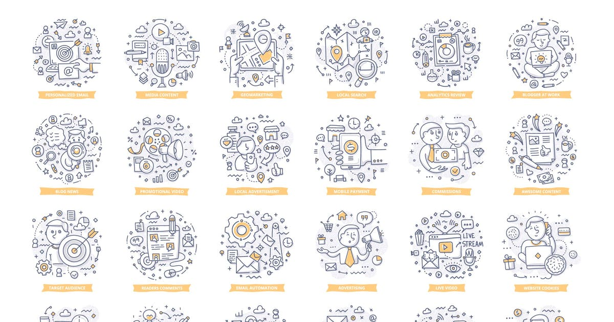 Download 24 Marketing Doodle Concepts by koctia