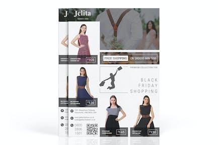 Jelita: Fashion Marketing Flyer