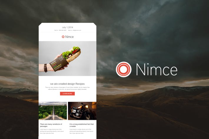 Thumbnail for Nimce - Responsive Email Template