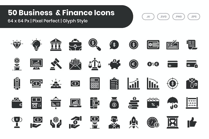 50 Business & Finance - Glyph