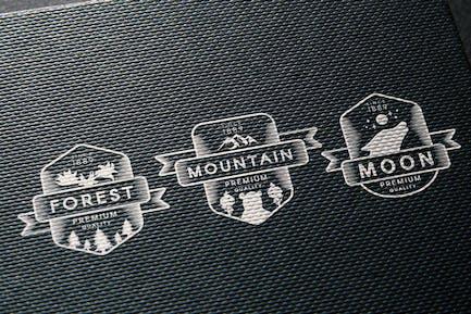 3 Vintage Wild & Free Badges