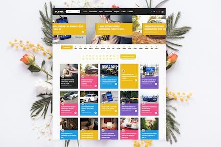 Vloma Grid - Blog / Magazine Video WordPress Theme