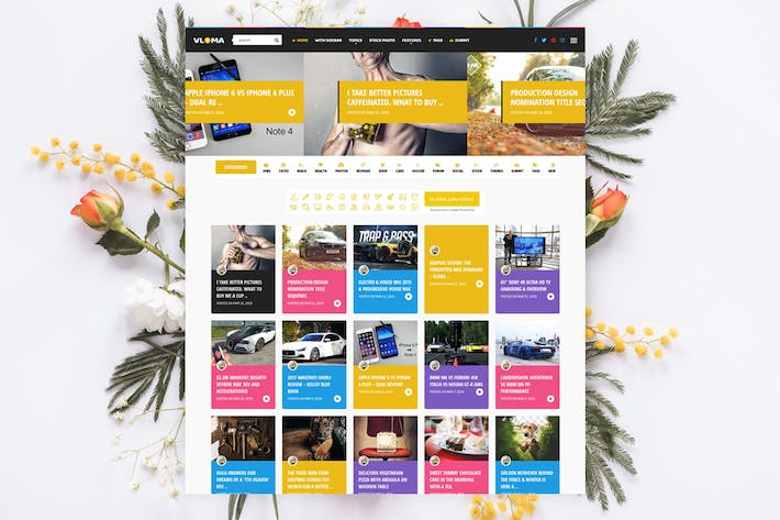 Thumbnail for Vloma Grid - Blog / Magazine Video WordPress Theme