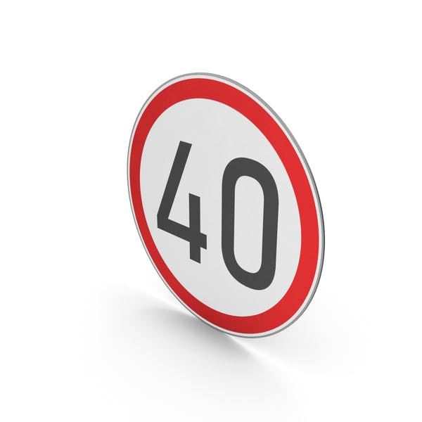 Thumbnail for Road Sign Speed Limit 40