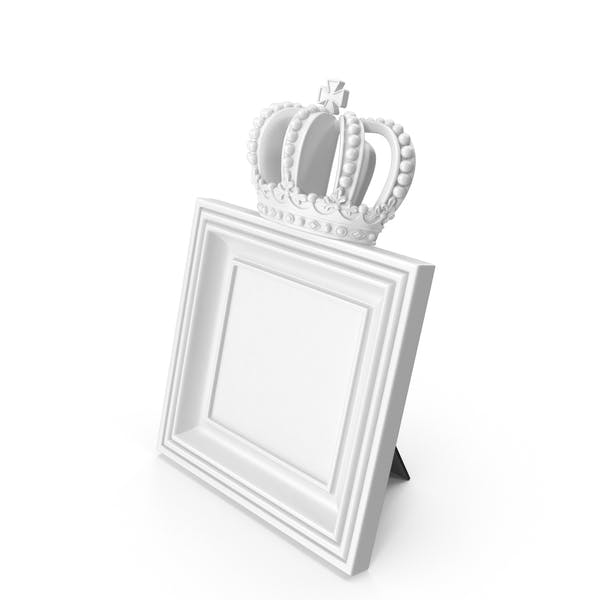 Thumbnail for Baroque Photo Frame White
