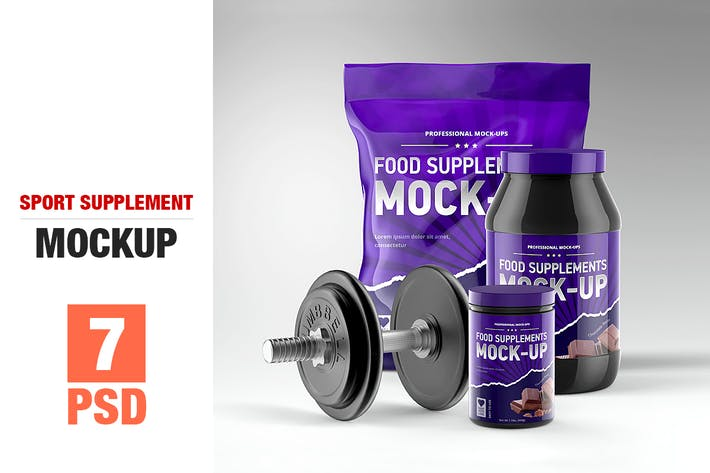 Thumbnail for Sport Supplement Package Mock-up