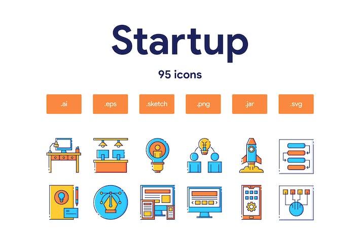 Thumbnail for Startup Icon Set