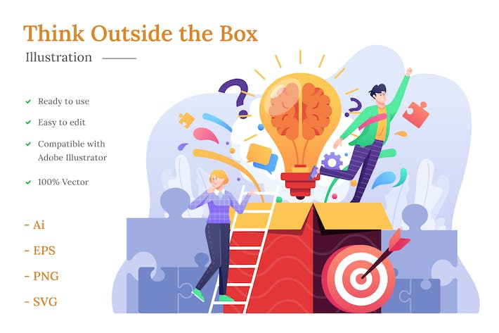 Thumbnail for Think Outside the Box Illustration