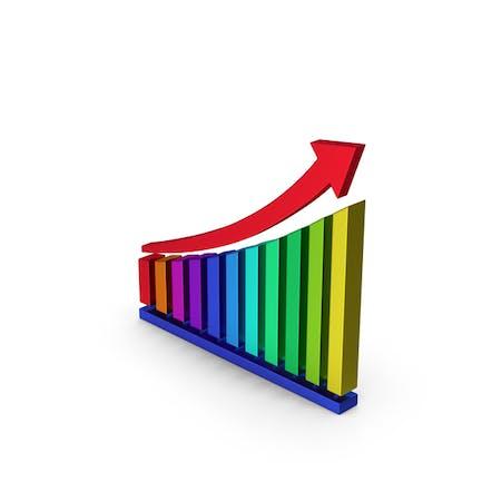 Symbol Chart Colored Metallic