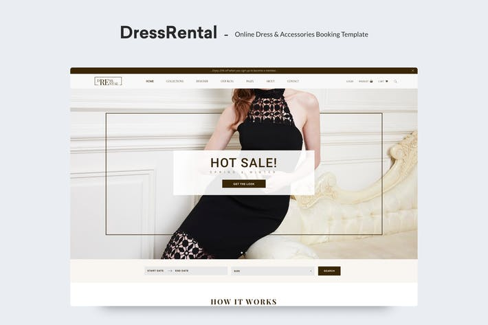 Thumbnail for DressRental - Online Dress & Accessories Booking T