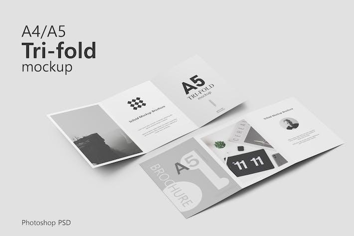 Thumbnail for Trifold Brochure Mockup