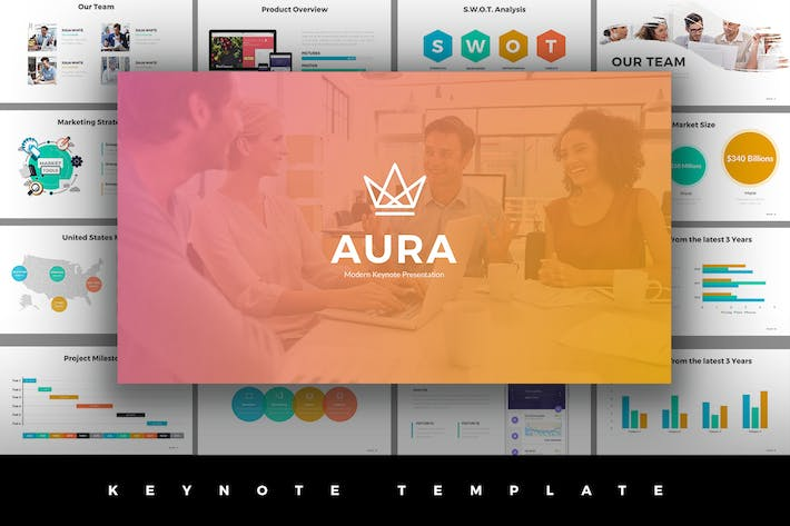 Thumbnail for Aura Keynote Template