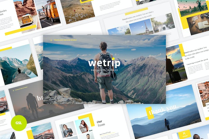 Thumbnail for Wetrip - Backpackers Google Slides Template