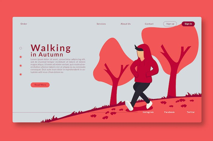 Thumbnail for Walking in Autumn - Web Header & Landing Page GR