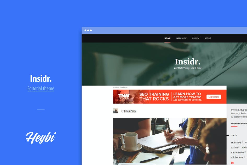 Download Insidr: Editorial Theme for Writer by Heybi