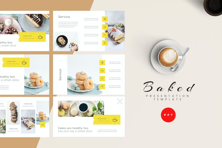 Thumbnail for Baked - Bakery Powerpoint Presentation Template