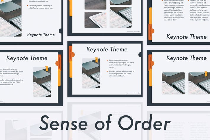 Thumbnail for Sense of Order Keynote Template