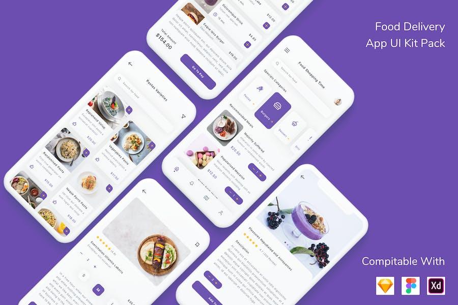 Food Delivery App UI Kit Pack