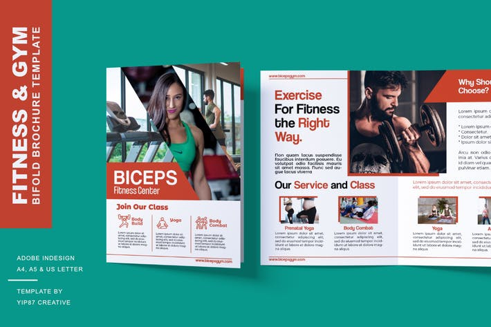 Thumbnail for Fitness and Gym - Bifold Brochure