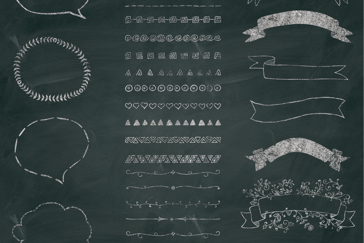 Cover Image For Separate PNG Chalk Drawing Elements