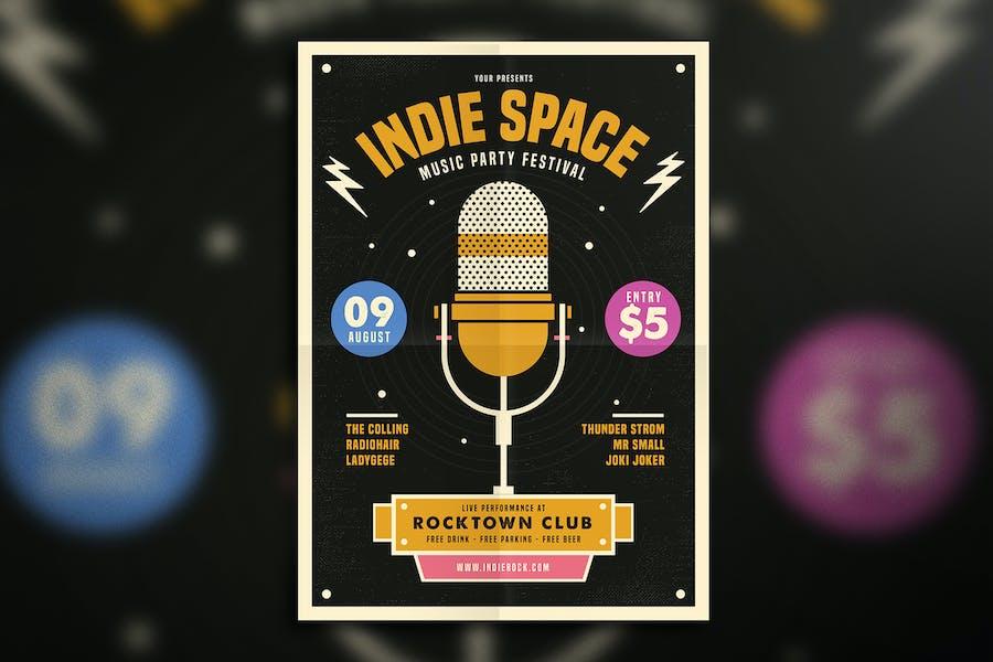 Indie Karaoke Space Flyer