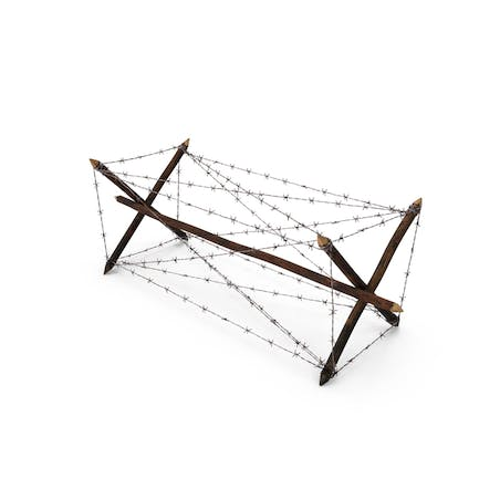 Knife Rest Barbed Wire Obstacle Old