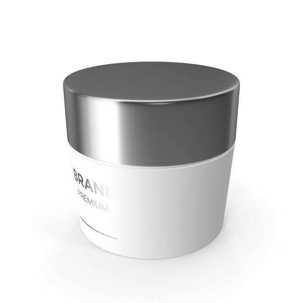 White Cosmetic Cream Jar