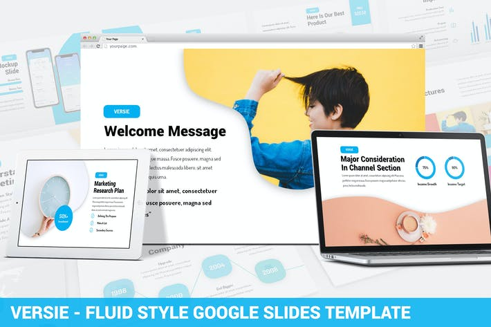 Thumbnail for Versie - Fluid Style Google Slides Template