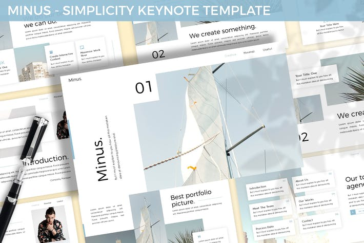 Thumbnail for Minus - Simplicity Keynote Template
